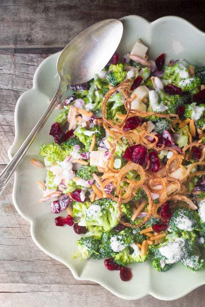 Skinny Broccoli Salad Recipe | HeyFood — heyfoodapp.com