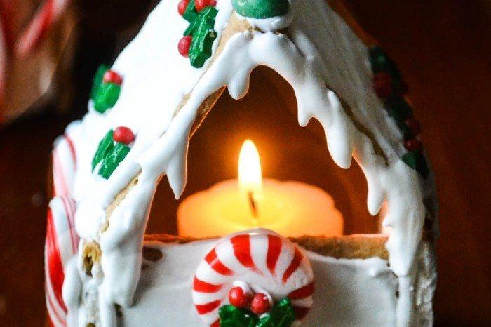 Graham Cracker Gingerbread House Votives (easy tutorial) Recipe | HeyFood — heyfoodapp.com