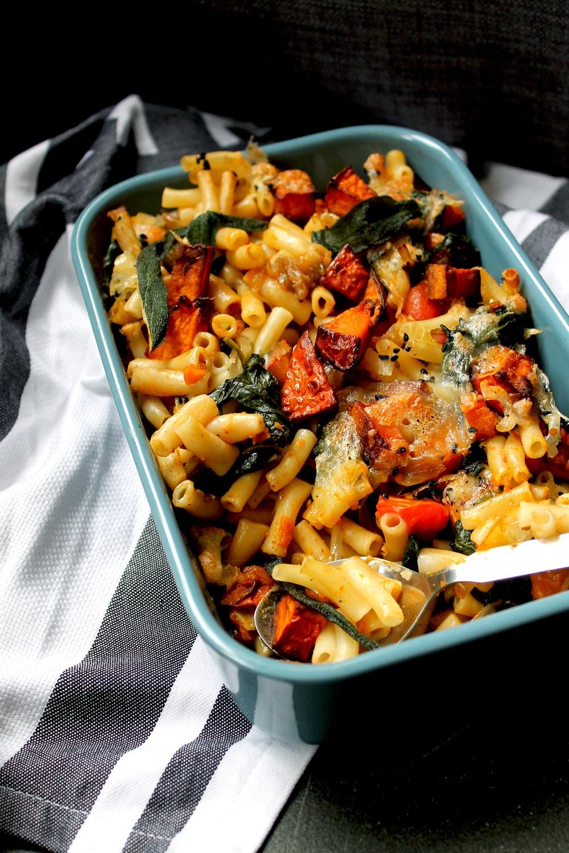 Butternut squash pasta bake  Recipe | HeyFood — heyfoodapp.com
