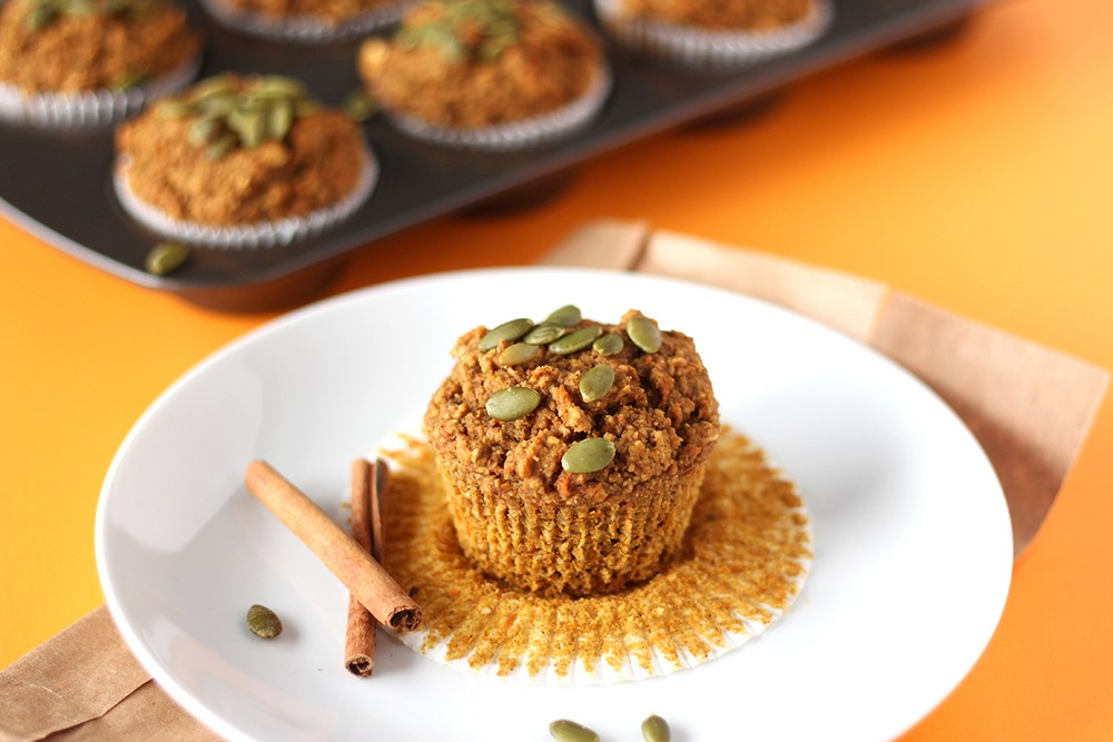 Easy Pumpkin Carrot Muffins (V, GF) Recipe | HeyFood — heyfoodapp.com
