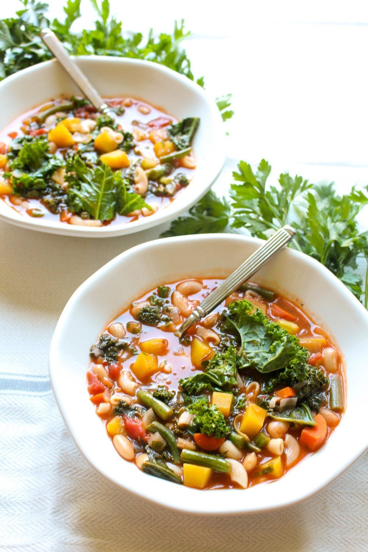 Kale Pumpkin Minestrone Recipe | HeyFood — heyfoodapp.com