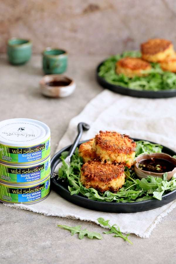 Tuna Kimchi Cakes with Soy Ginger Dipping Sauce Recipe | HeyFood — heyfoodapp.com
