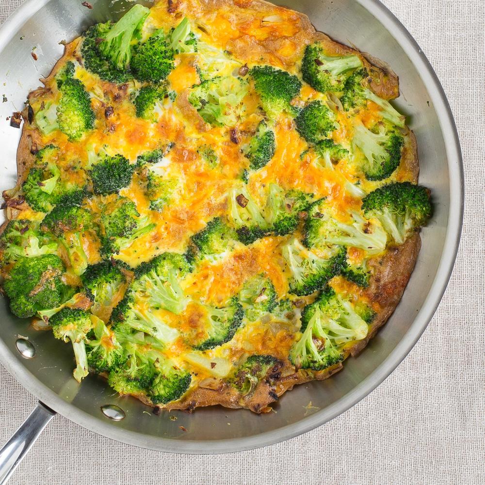 Broccoli & Cheddar Frittata Recipe | HeyFood — heyfoodapp.com