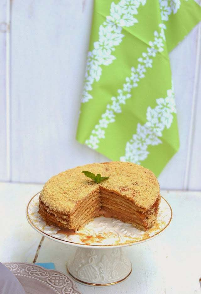 Russian Honey Cake -- Medovik Recipe | HeyFood — heyfoodapp.com