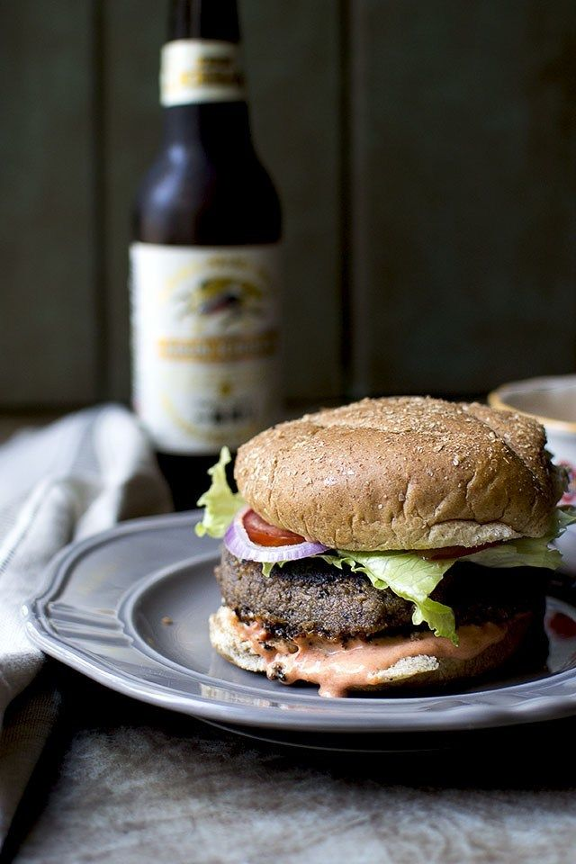 Lentil Mushroom Vegetarian Burger Recipe | HeyFood — heyfoodapp.com