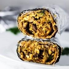 Freezer Vegan Breakfast Burrito Recipe | HeyFood — heyfoodapp.com