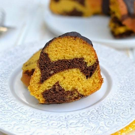 Mango-Chocolate Marble Bundt Cake Recipe | HeyFood — heyfoodapp.com
