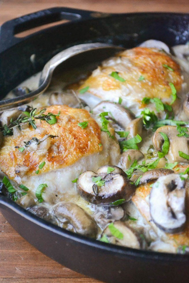 Chicken Thighs Marsala for Two Recipe | HeyFood — heyfoodapp.com
