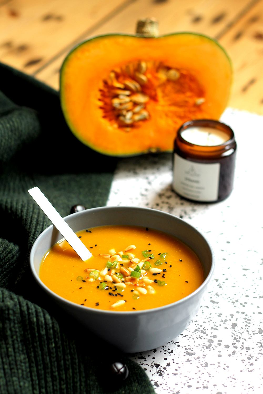 Crown Prince squash soup  Recipe | HeyFood — heyfoodapp.com