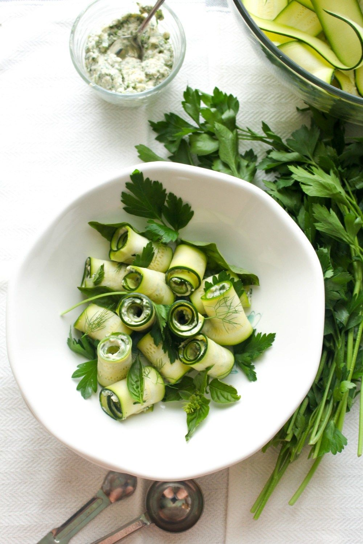 Herb Hummus Zucchini Roll Ups Recipe | HeyFood — heyfoodapp.com