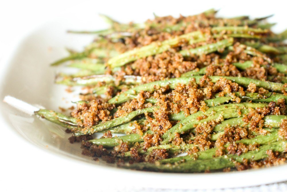Green Beans with Bread Crumbs and Mustard Aioli Recipe | HeyFood — heyfoodapp.com