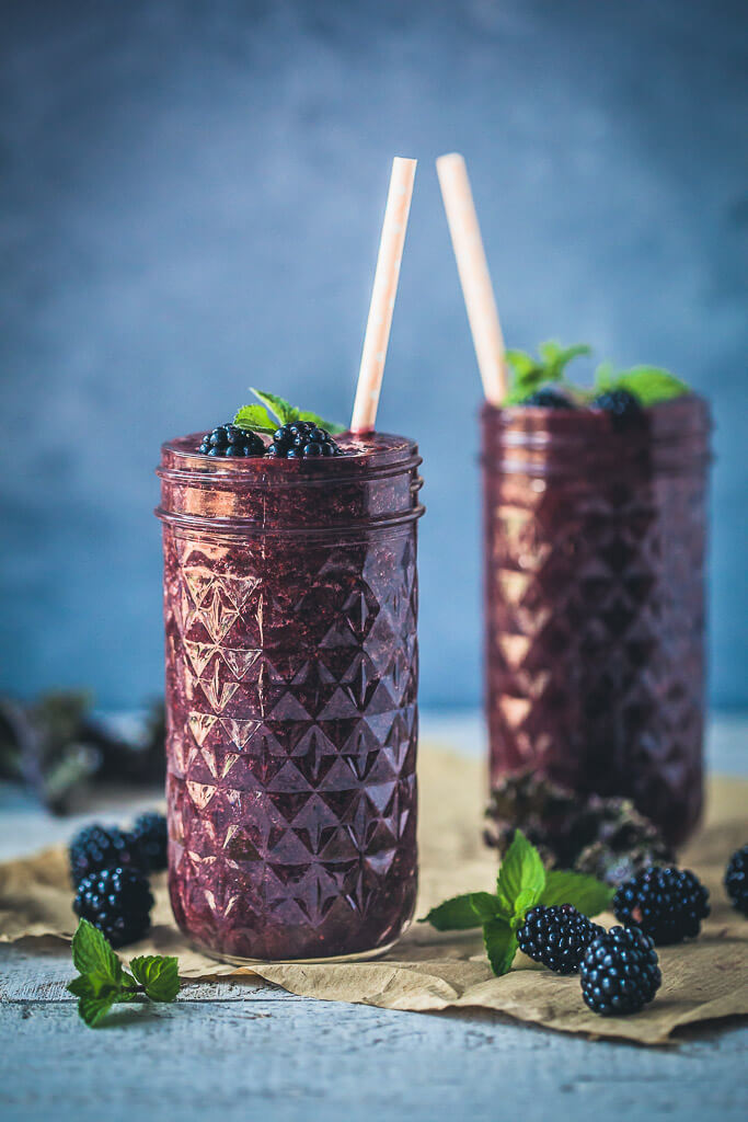Antioxidant Blackberry Kale Smoothie  Recipe | HeyFood — heyfoodapp.com
