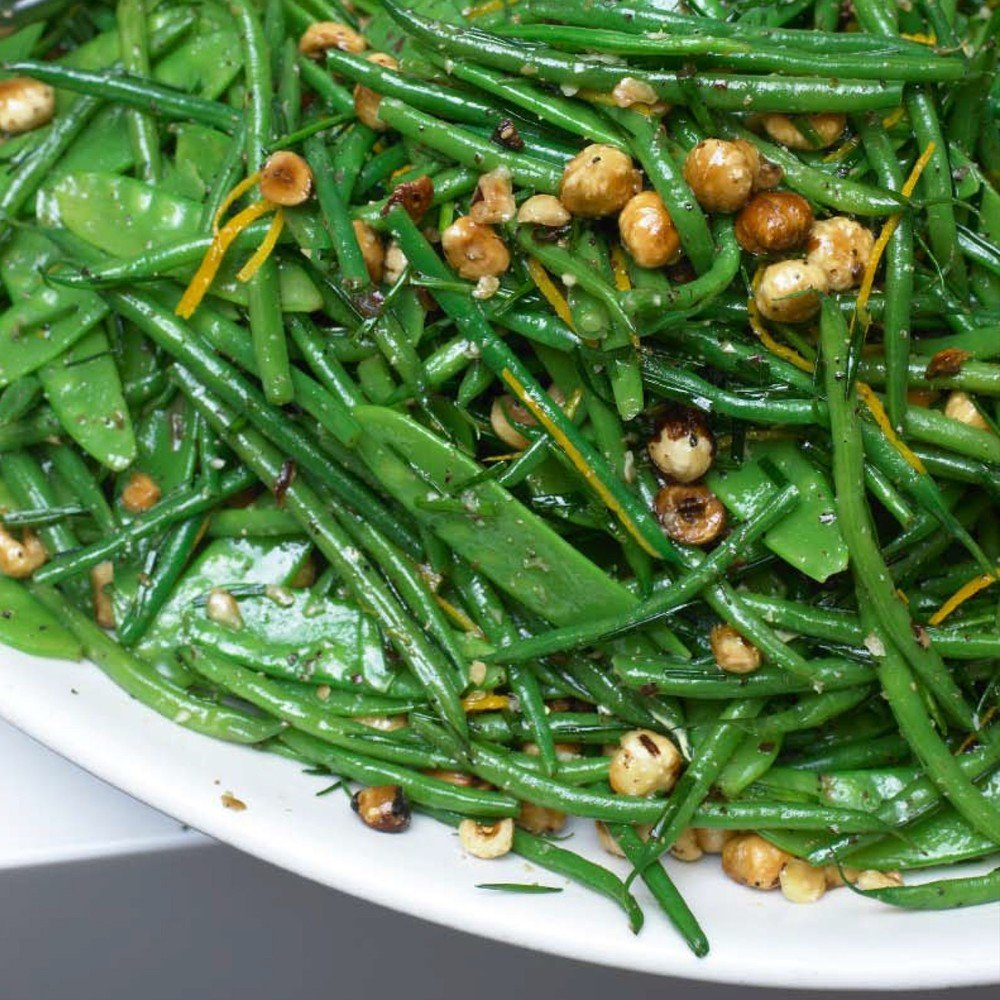 French Beans And Mangetout With Hazelnut And Orange Recipe | HeyFood — heyfoodapp.com
