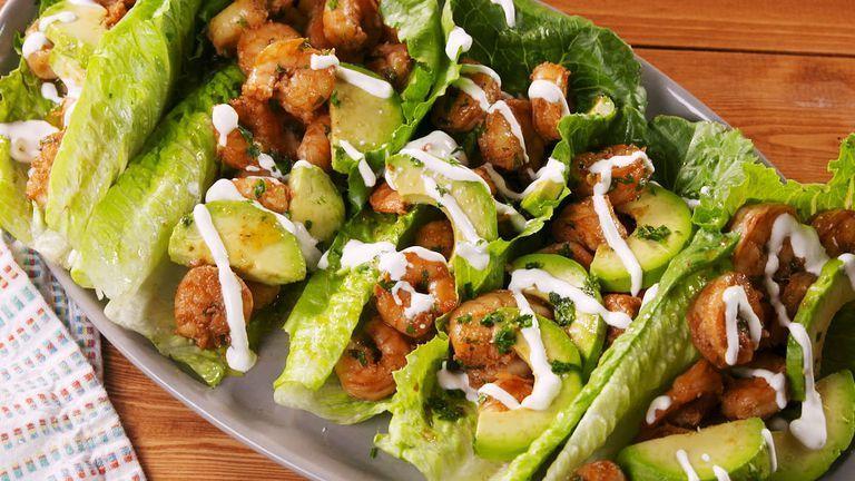 Cilantro-Lime Shrimp Wraps Recipe | HeyFood — heyfoodapp.com