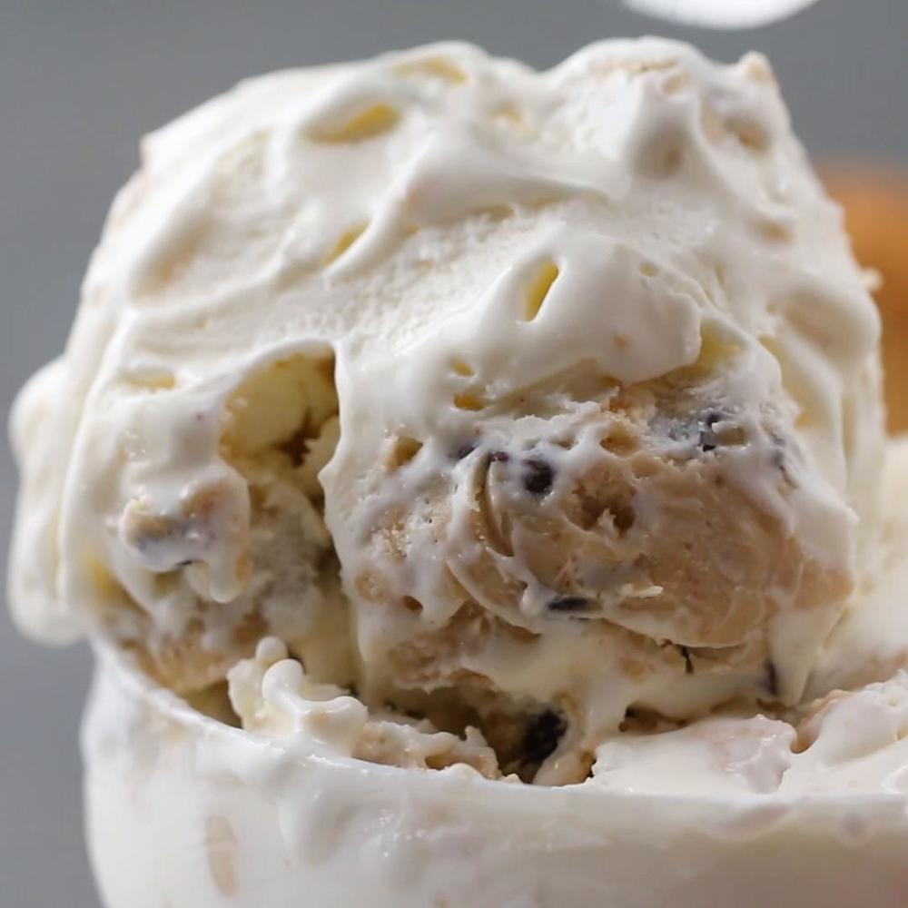 Cookie Dough Ice Cream Recipe by Tasty Recipe | HeyFood — heyfoodapp.com