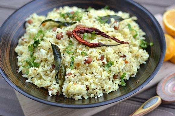 Meyer Lemon Pulihora (Meyer Lemon Rice) Recipe | HeyFood — heyfoodapp.com
