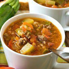 Zucchini Tomato Italian Sausage Soup Recipe | HeyFood — heyfoodapp.com