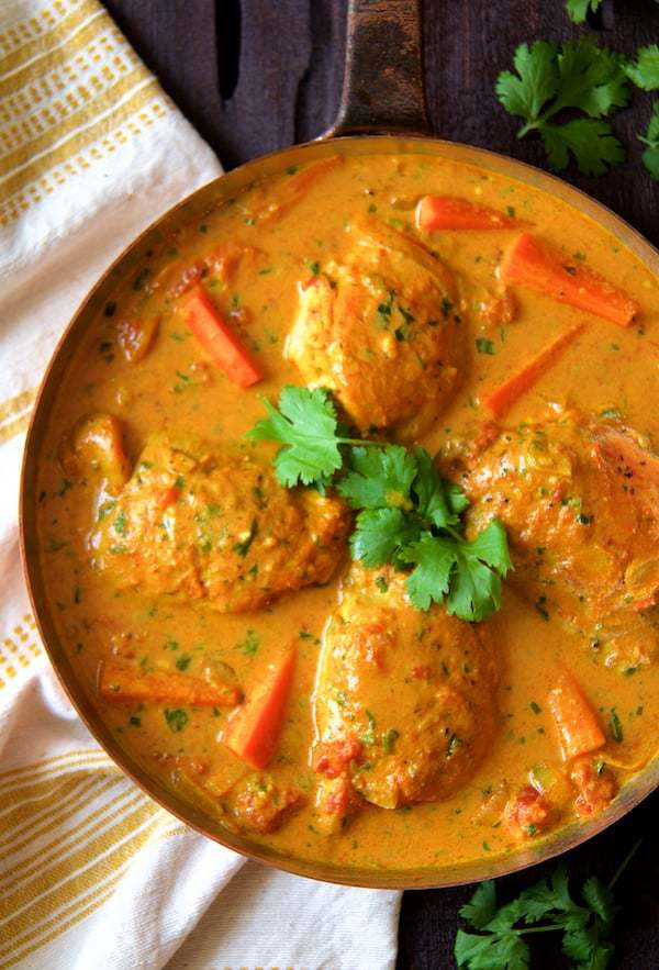 Curry Braised Chicken Thighs Recipe | HeyFood — heyfoodapp.com