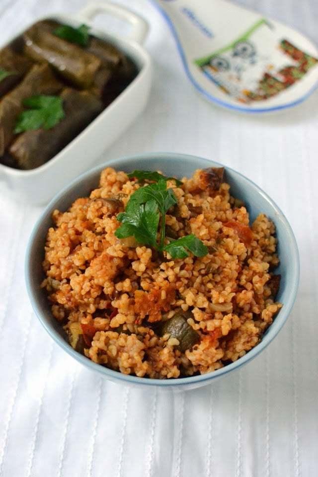 Turkish Bulgur Pilaf with Veggies Recipe | HeyFood — heyfoodapp.com