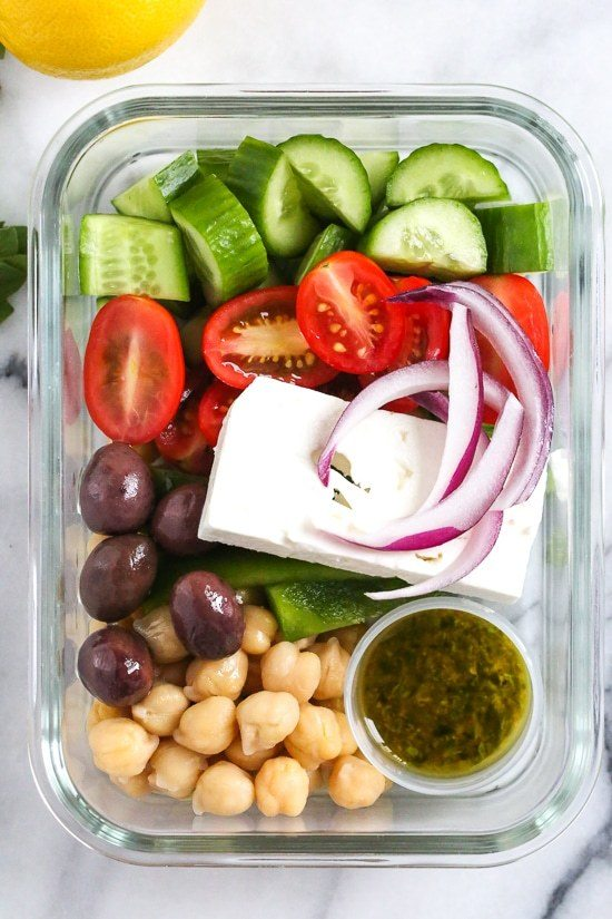 Greek Chickpea Salad Recipe | HeyFood — heyfoodapp.com