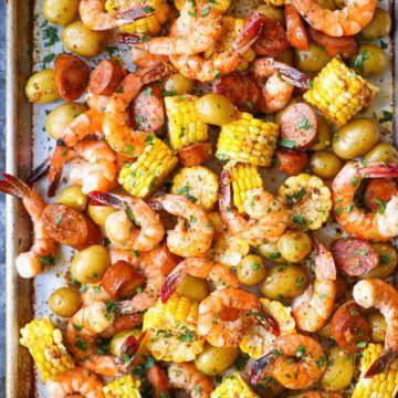 Sheet Pan Shrimp Boil Recipe | HeyFood — heyfoodapp.com