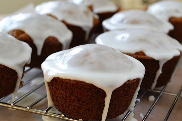 Gingerbread Muffins with Lemon Glaze Recipe | HeyFood — heyfoodapp.com
