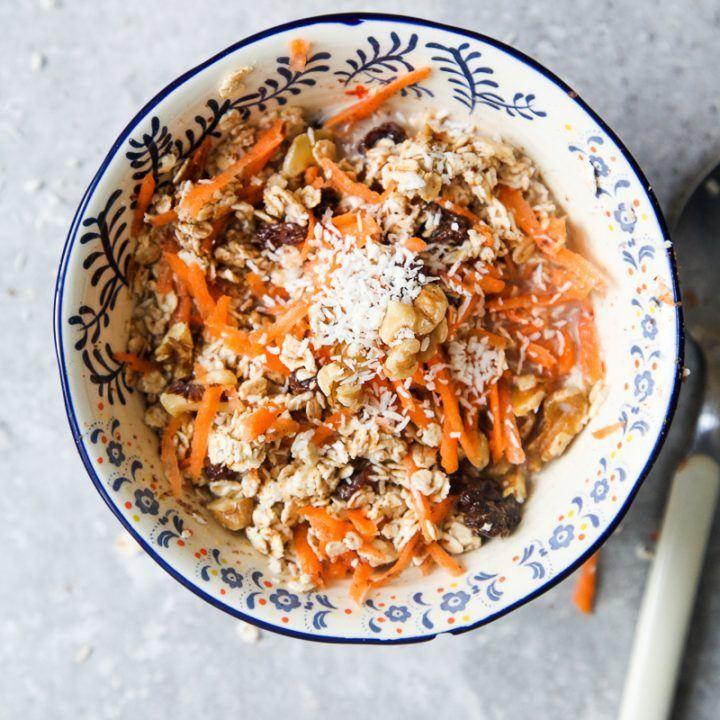 Carrot Cake Muesli (Vegan + GF) Recipe | HeyFood — heyfoodapp.com