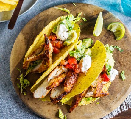 Lighter chicken tacos Recipe | HeyFood — heyfoodapp.com