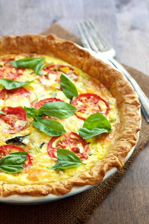 Tomato and Corn Pie with Fresh Basil Recipe | HeyFood — heyfoodapp.com