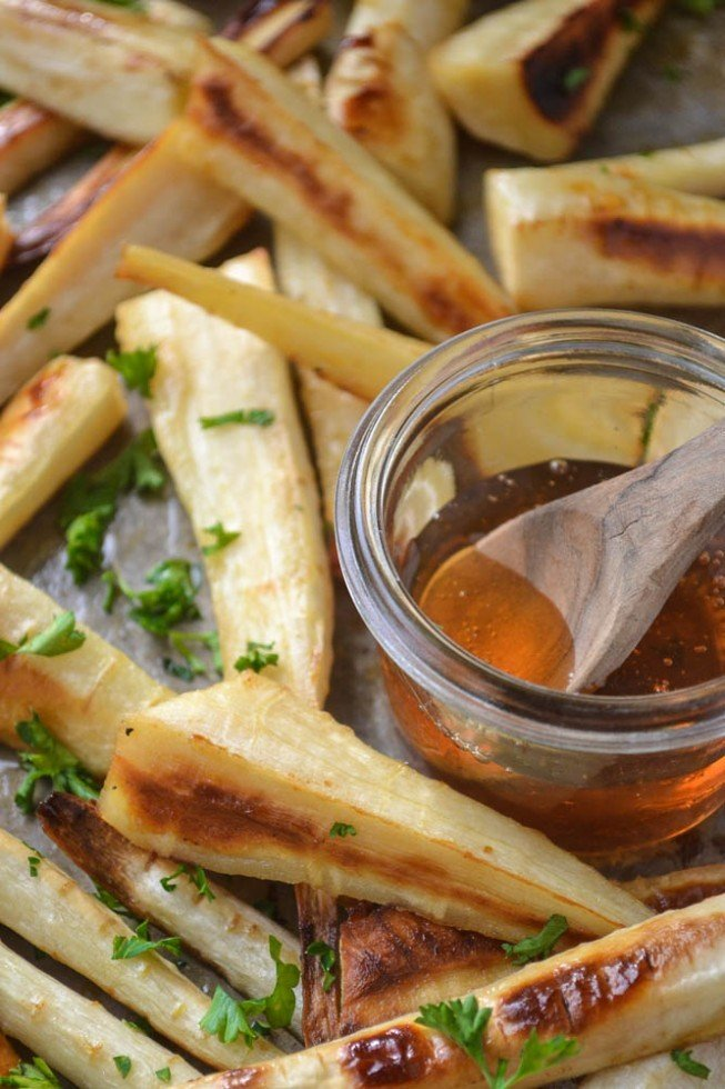 Honeyed Parsnips Recipe | HeyFood — heyfoodapp.com