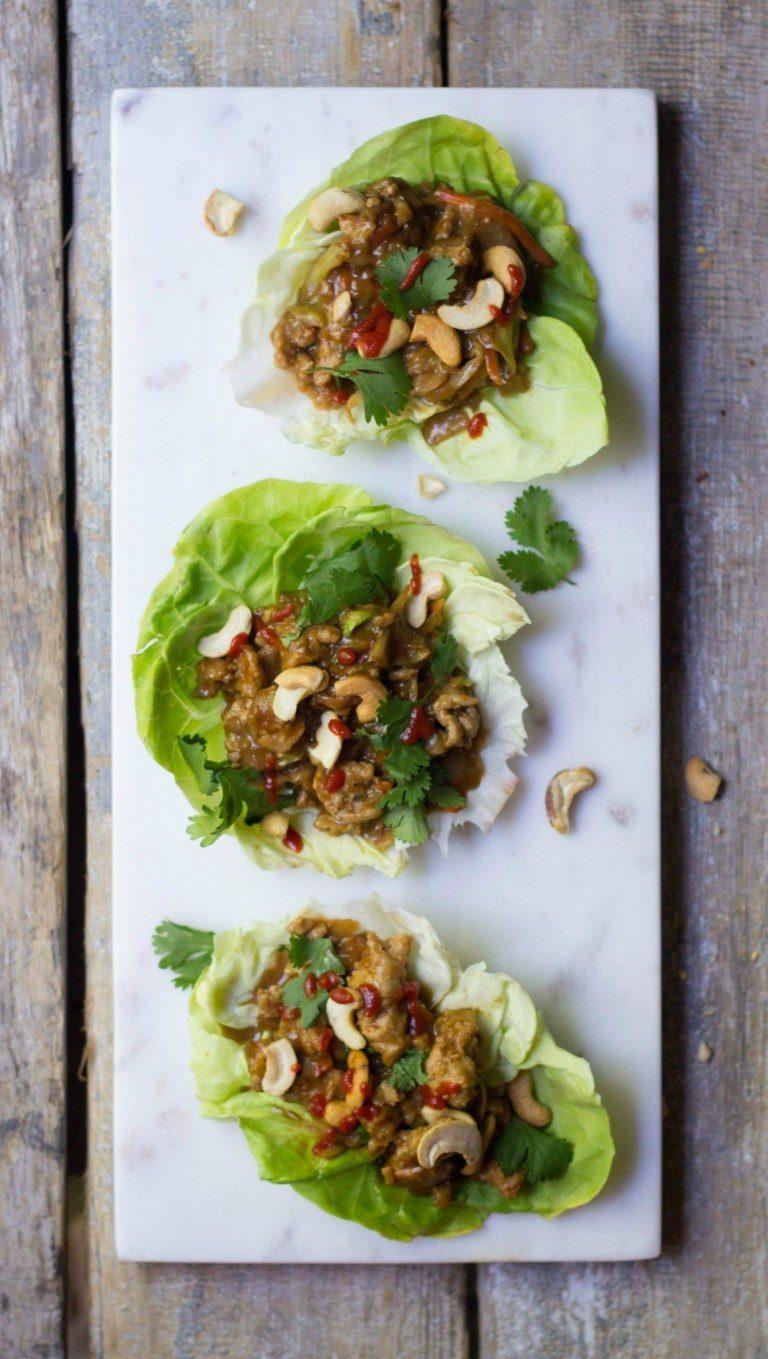 Cashew Chicken Lettuce Wraps Recipe | HeyFood — heyfoodapp.com