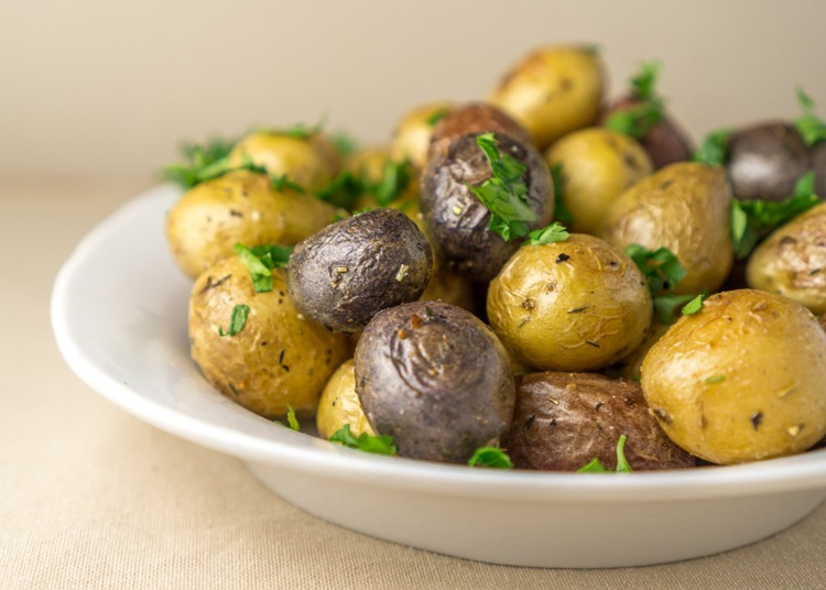 Roasted Young Potatoes with Herbs Recipe | HeyFood — heyfoodapp.com