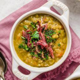 Slow Cooker Split Pea Soup with Ham Hock Recipe | HeyFood — heyfoodapp.com