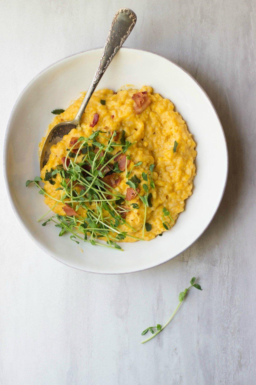 Butternut Squash, Bacon & Sage Risotto Recipe | HeyFood — heyfoodapp.com