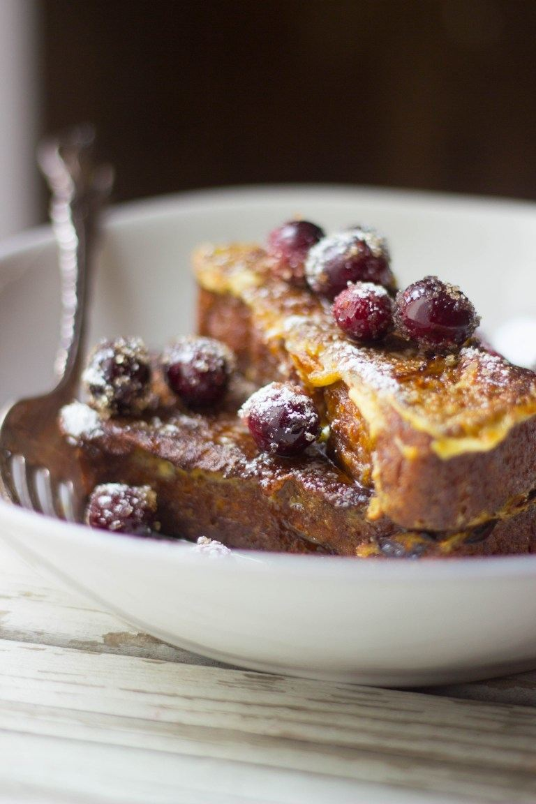 Pumpkin Eggnog French Toast Recipe | HeyFood — heyfoodapp.com