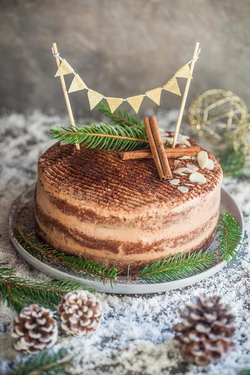 Easy Naked Chocolate Cake Recipe | HeyFood — heyfoodapp.com