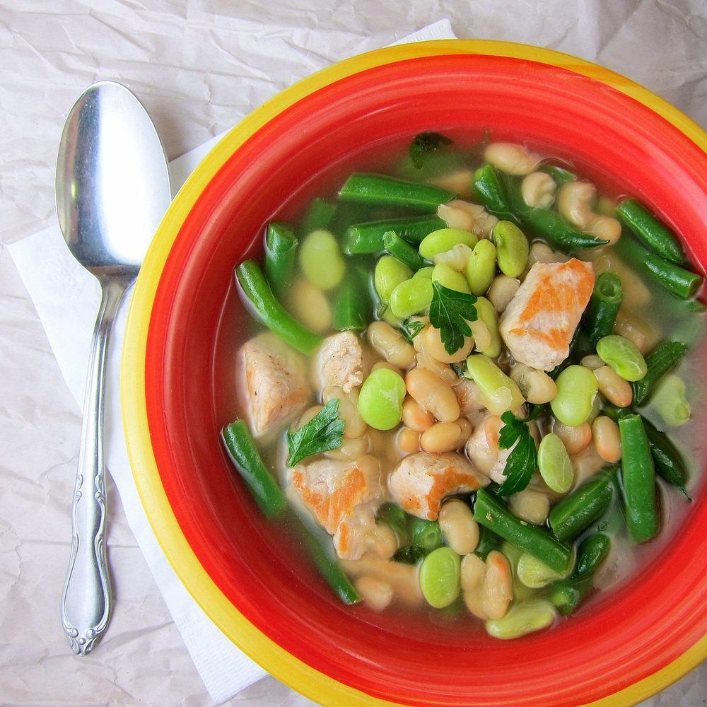 20 Minute Pork Three-Bean Soup Recipe | HeyFood — heyfoodapp.com