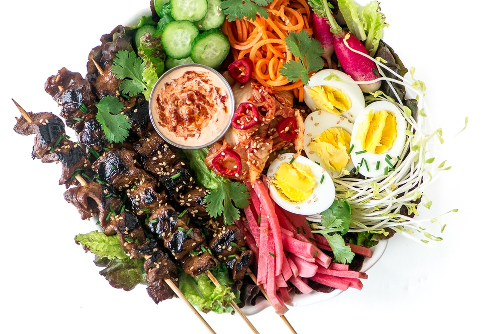 Korean Barbecue Salad Recipe | HeyFood — heyfoodapp.com