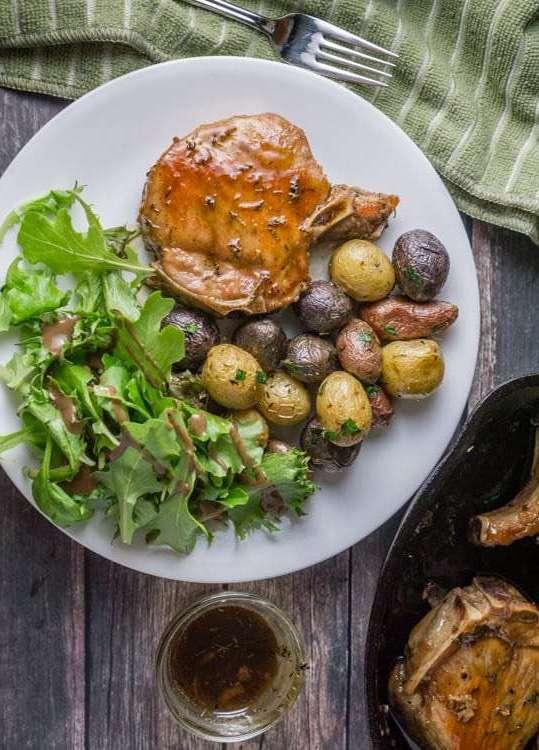 Maple Glazed Pork Chops Recipe   HeyFood — heyfoodapp.com