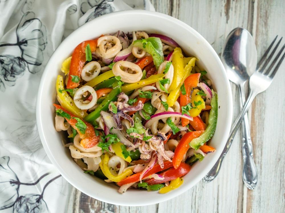 Calamari Salad Recipe   HeyFood — heyfoodapp.com