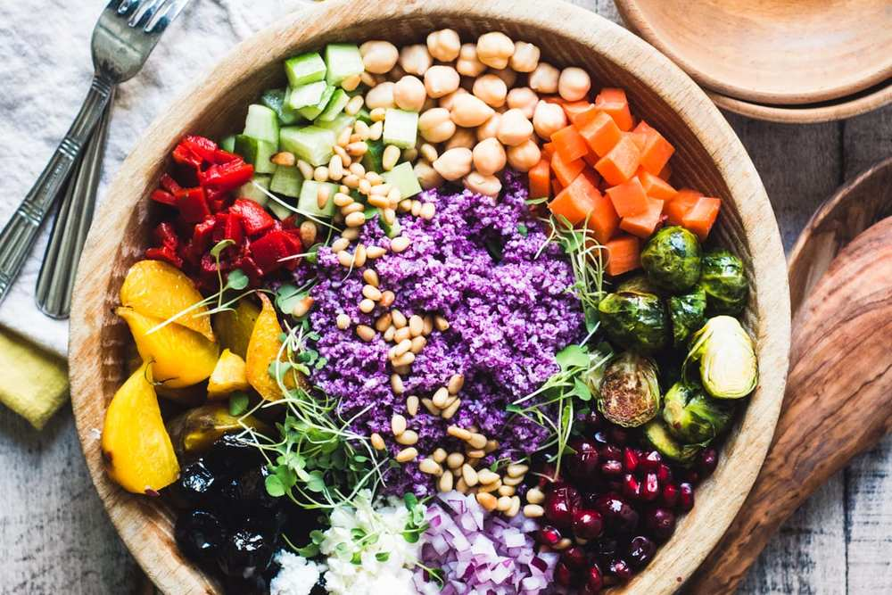 Purple Cauliflower Rice Salad Recipe | HeyFood — heyfoodapp.com