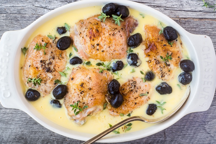 Chicken in Lemon Sauce with Olives Recipe | HeyFood — heyfoodapp.com