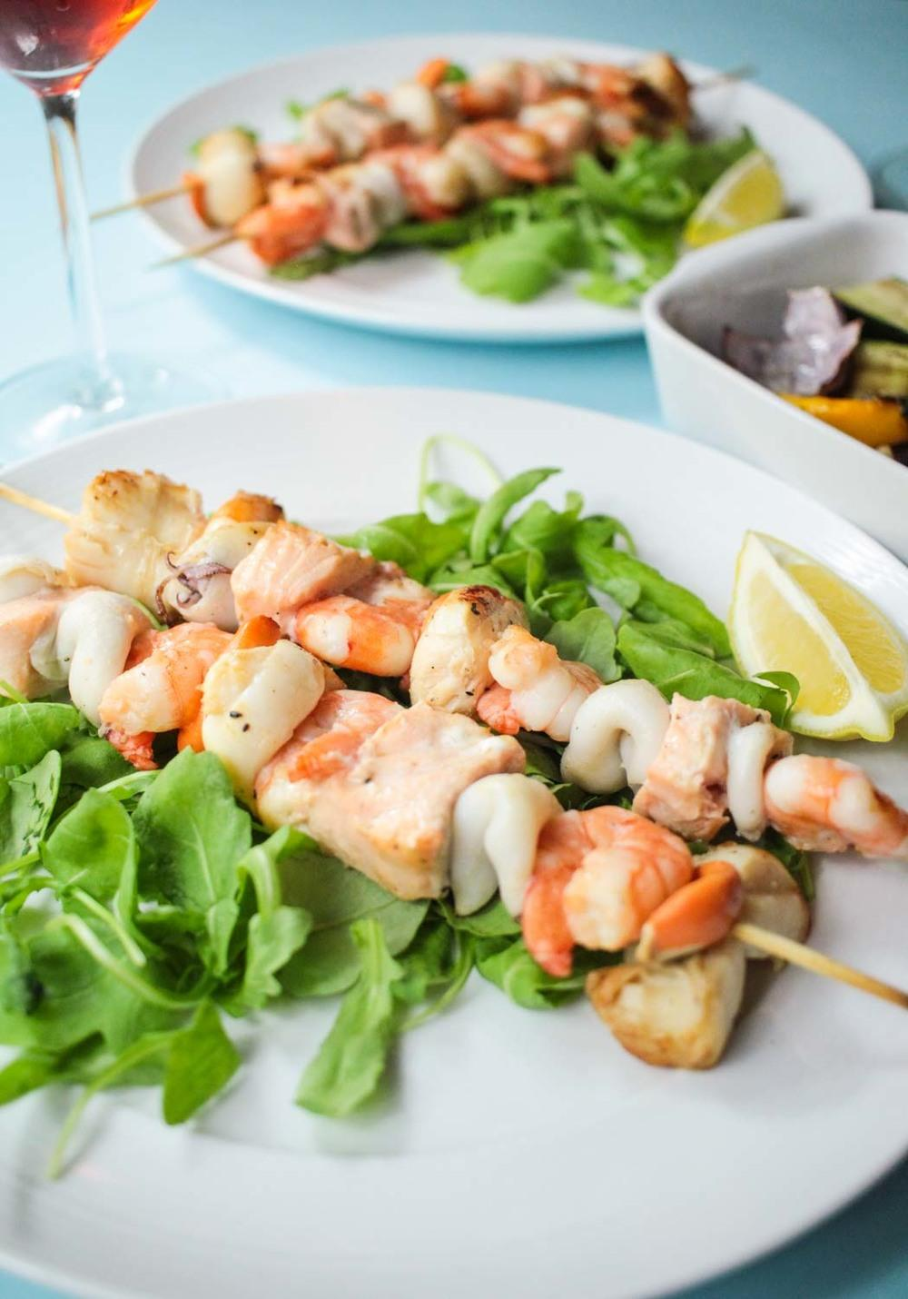Seafood Skewers Recipe | HeyFood — heyfoodapp.com