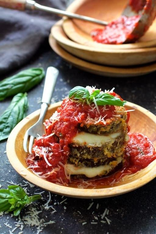 Eggplant Parmesan Stacks Recipe | HeyFood — heyfoodapp.com