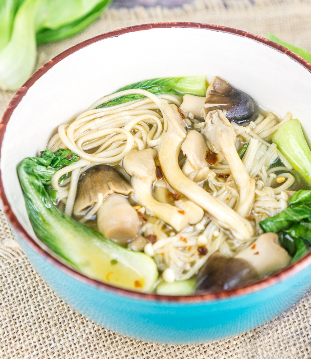 Lemongrass Ginger Mushroom Soup with Soba Noodles Recipe | HeyFood — heyfoodapp.com