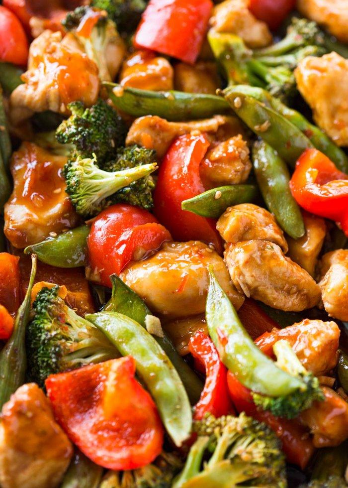 Healthy Sweet Chili Chicken & Veggies Recipe | HeyFood — heyfoodapp.com
