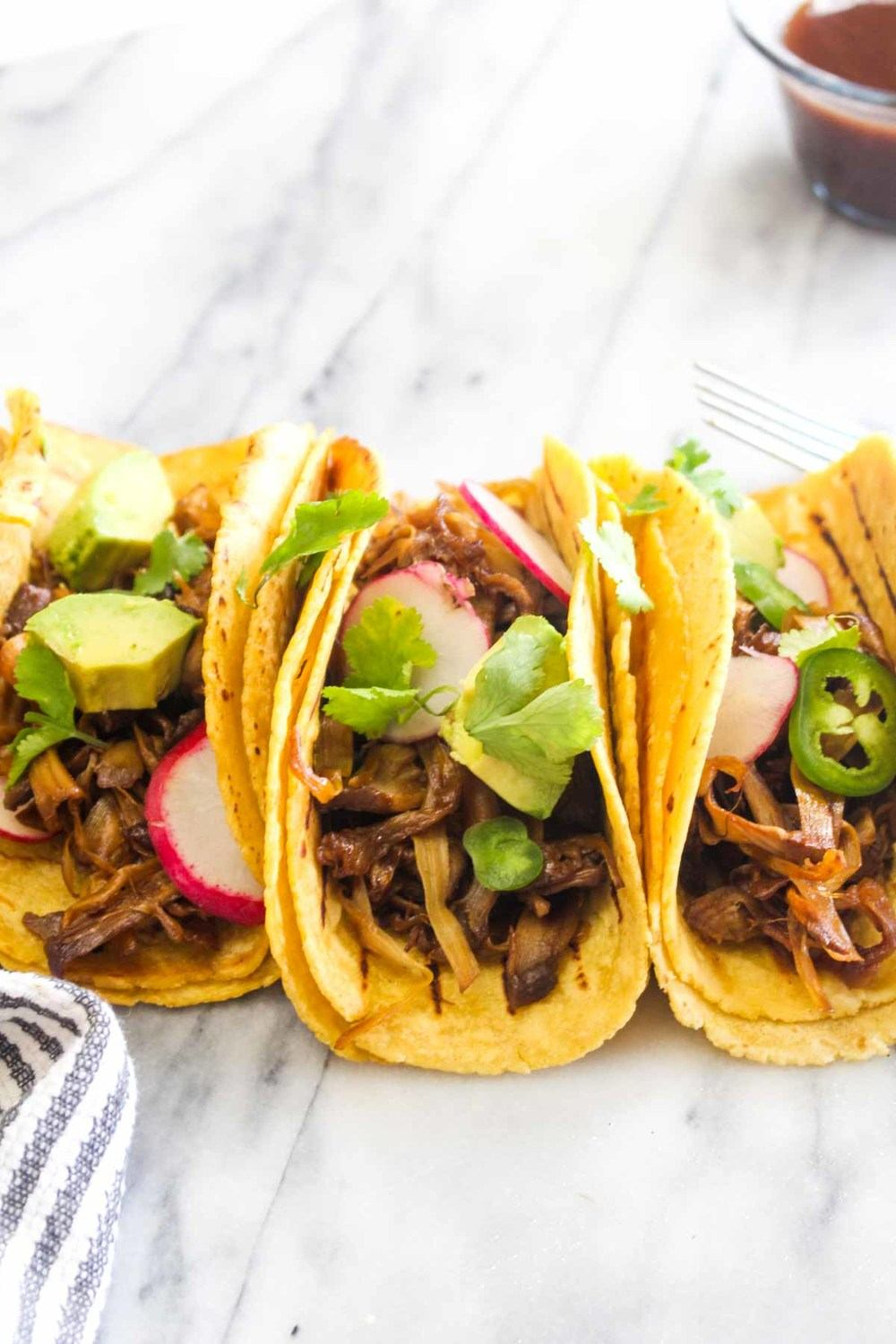 Korean Barbecue Jackfruit Tacos Recipe | HeyFood — heyfoodapp.com