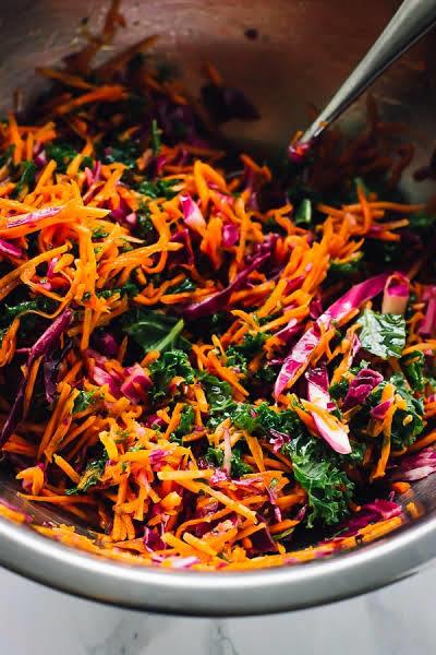 The Best Kale Cabbage Slaw Recipe | HeyFood — heyfoodapp.com