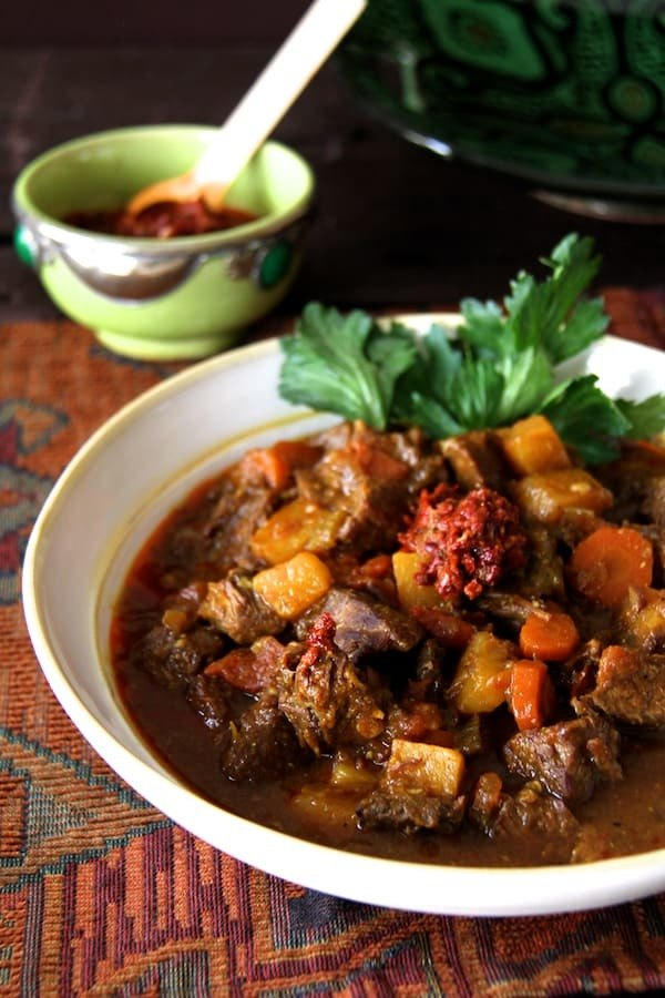 Mom's Moroccan Beef Stew Recipe | HeyFood — heyfoodapp.com