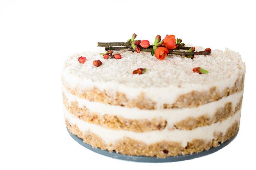 Raw Coconut Cream Cake Recipe | HeyFood — heyfoodapp.com
